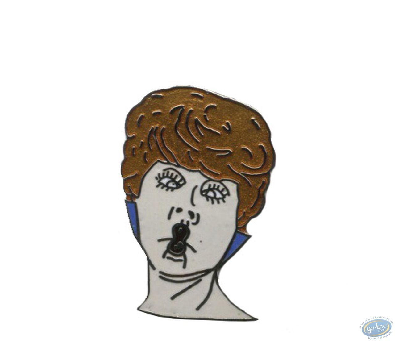 Pin's, Woman kiss (white)