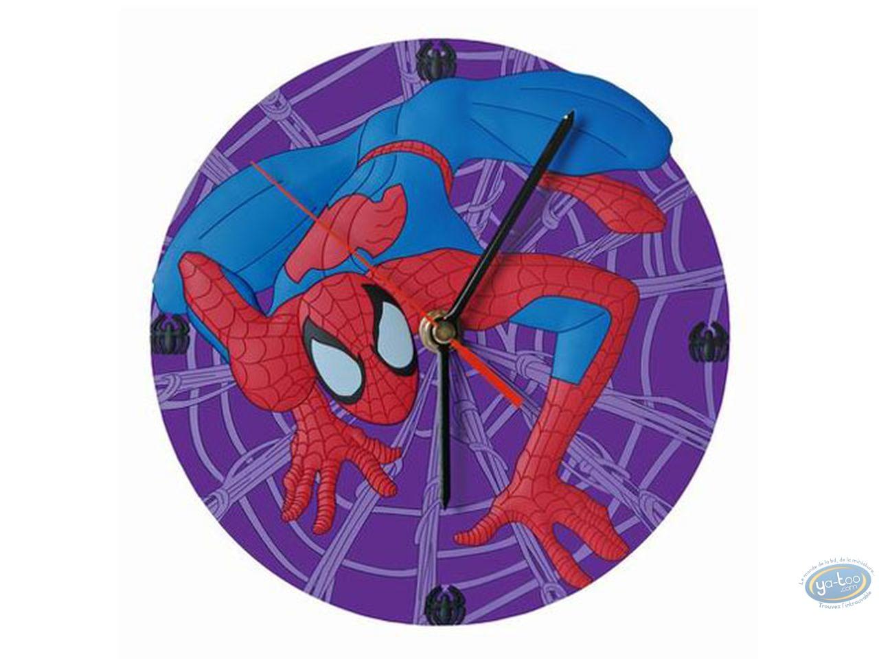 Clocks & Watches, Spiderman : PVC clock, Spiderman