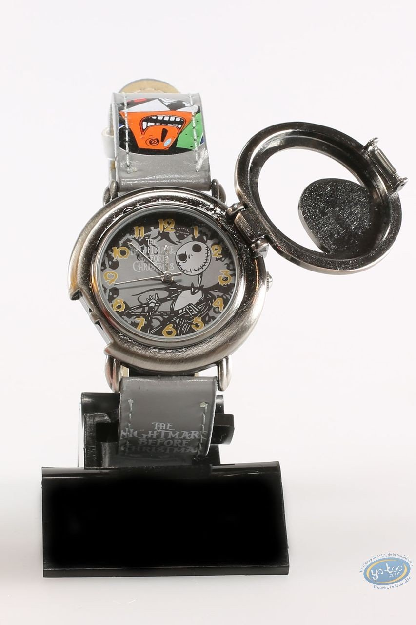 Clocks & Watches, Etrange Noël de Mr. Jack (L') : Watch, The Nightmare before Christmas Mr Jack: character - grey leather strap