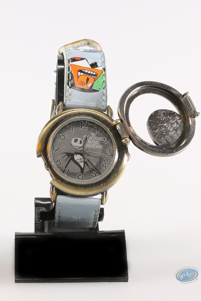 Clocks & Watches, Etrange Noël de Mr. Jack (L') : Watch, The Nightmare before Christmas Mr Jack: character - blue leather strap