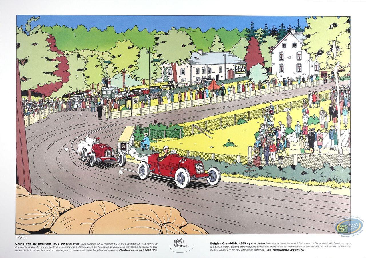 Offset Print, Grand Prix de Belgique 1933