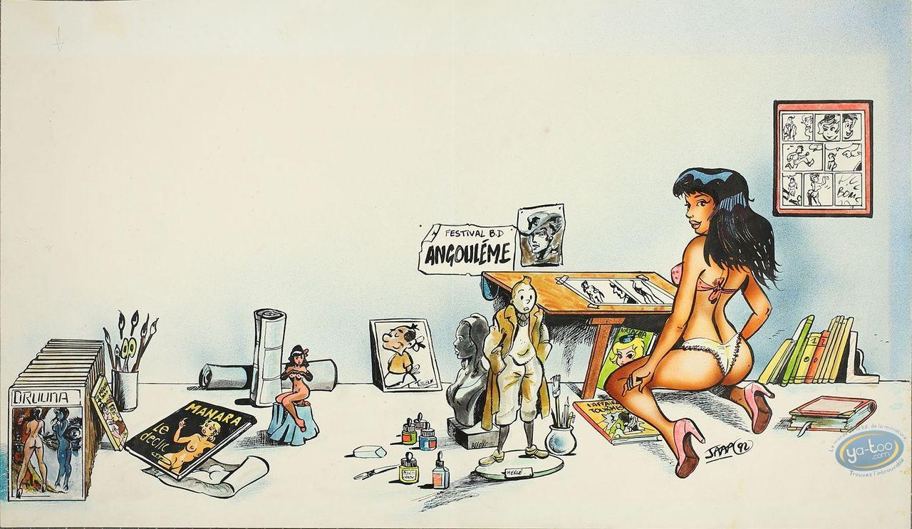 Originals, Pin-Up : Tribute to comics - Angouleme 92