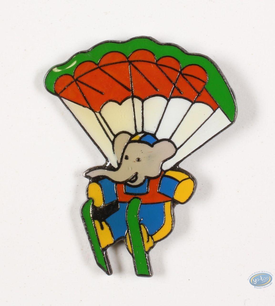Pin's, Babar : Babar in parachute with ski