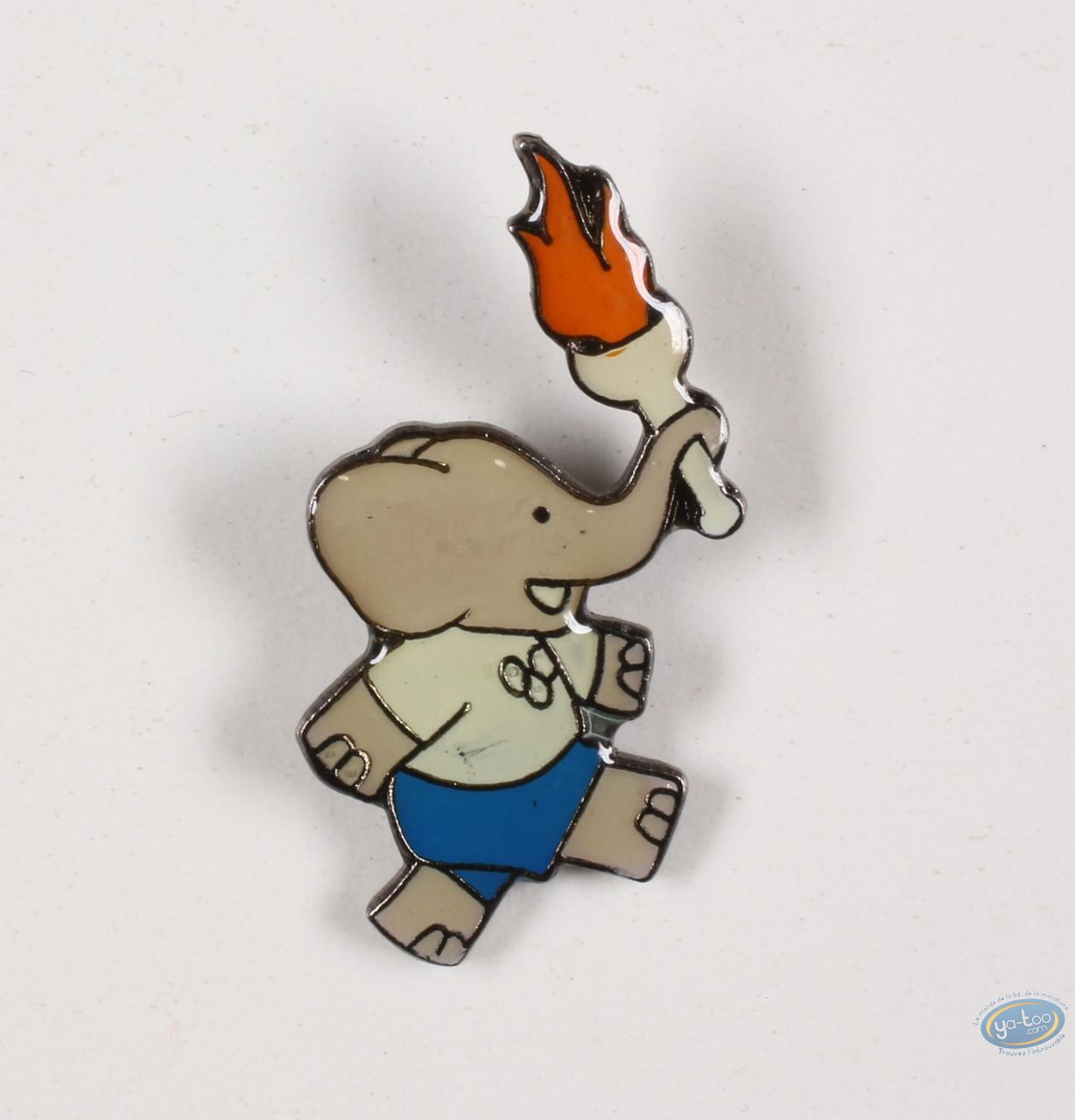 Pin's, Babar : Babar carries the Olympic flame