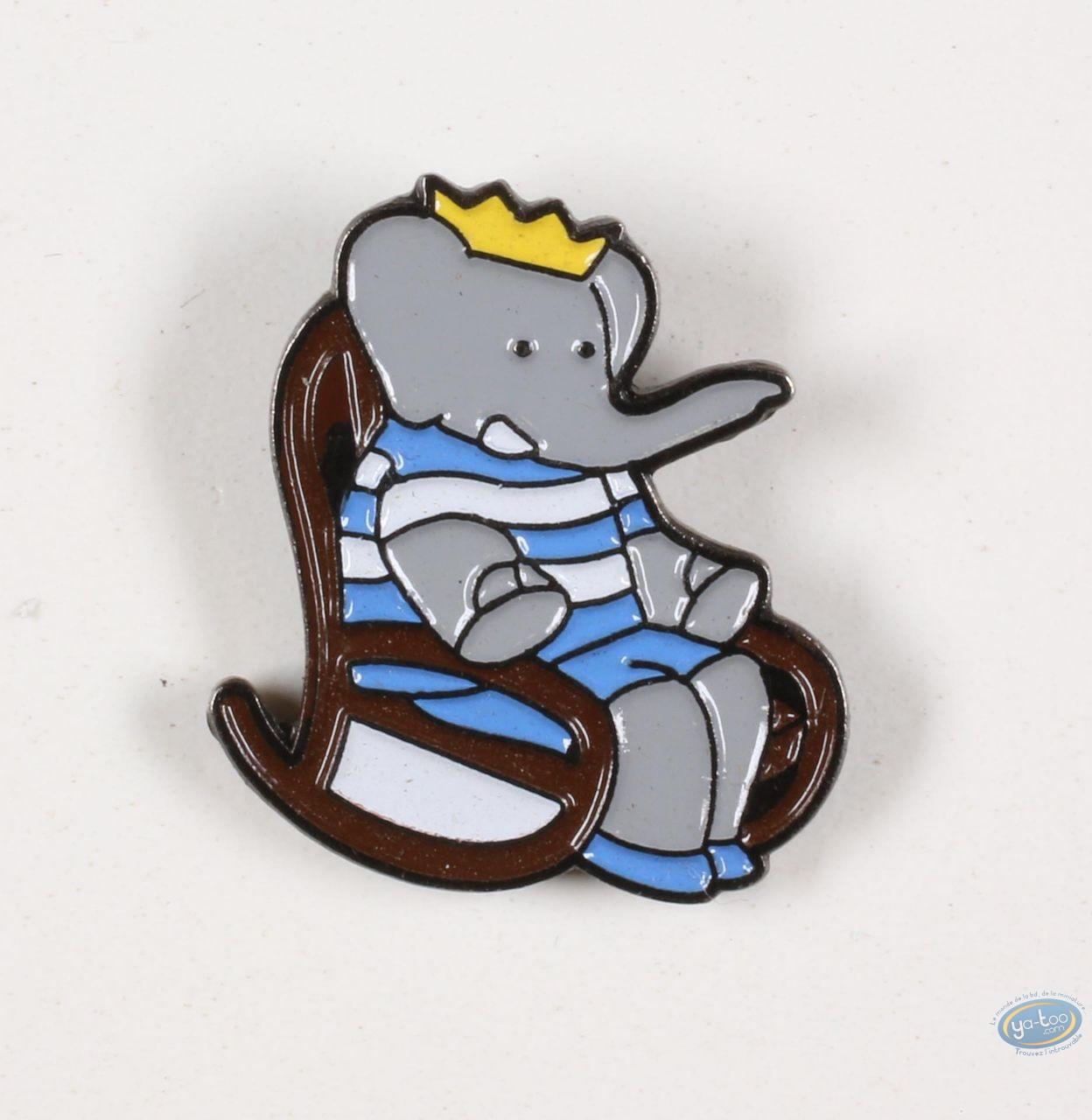 Pin's, Babar : Babar in its rocking chair