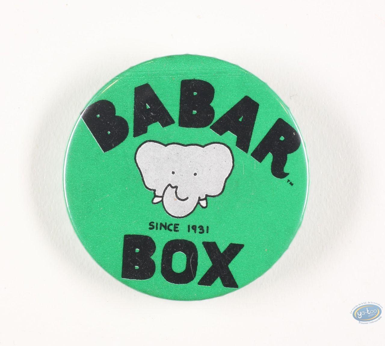 Pin's, Babar : Badge, Babar Box Since 1931