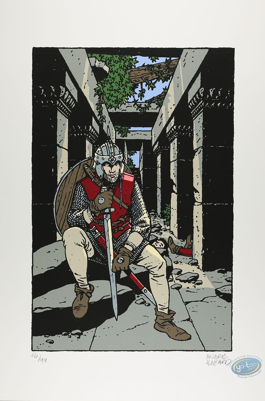 Serigraph Print, Chevalier assis