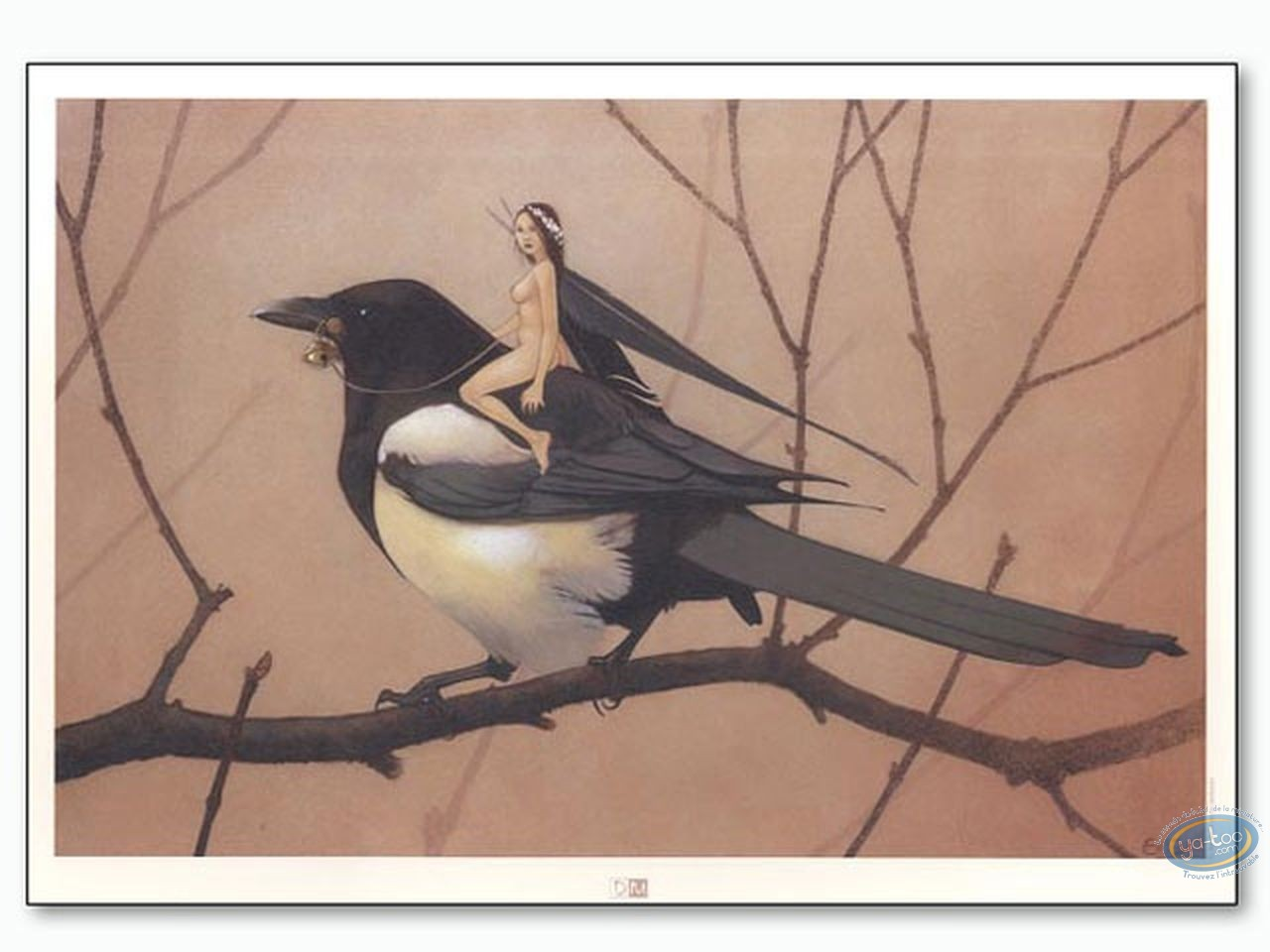 Offset Print, Féerie : Fairy on bird