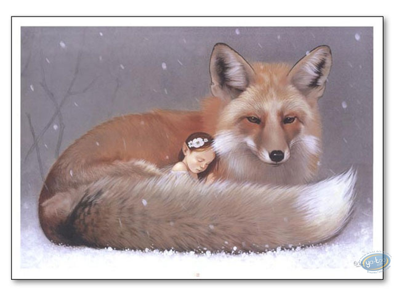 Offset Print, Féerie : Elf sleeping and fox