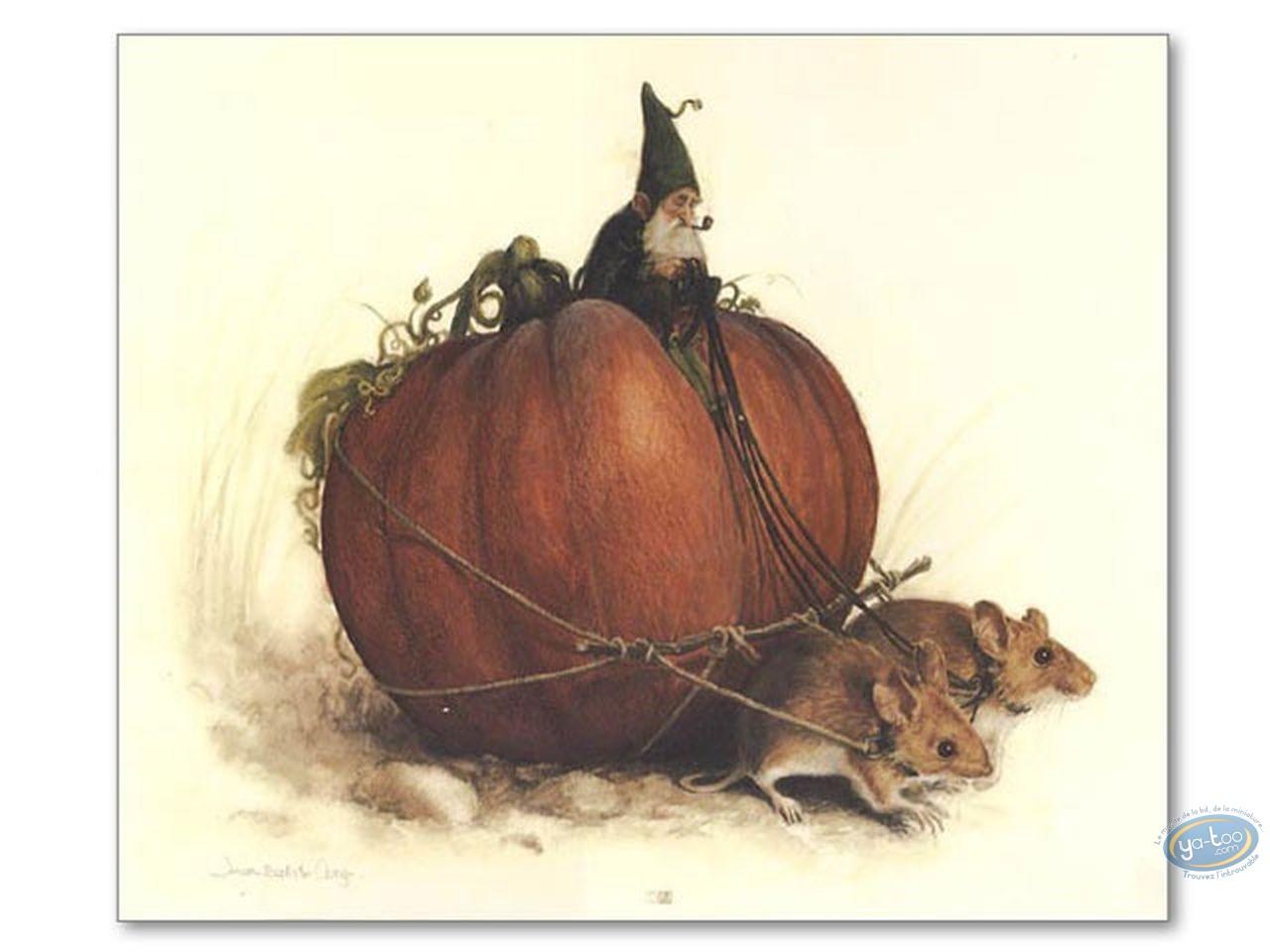 Offset Print, Féerie : Goblin on pumpkin