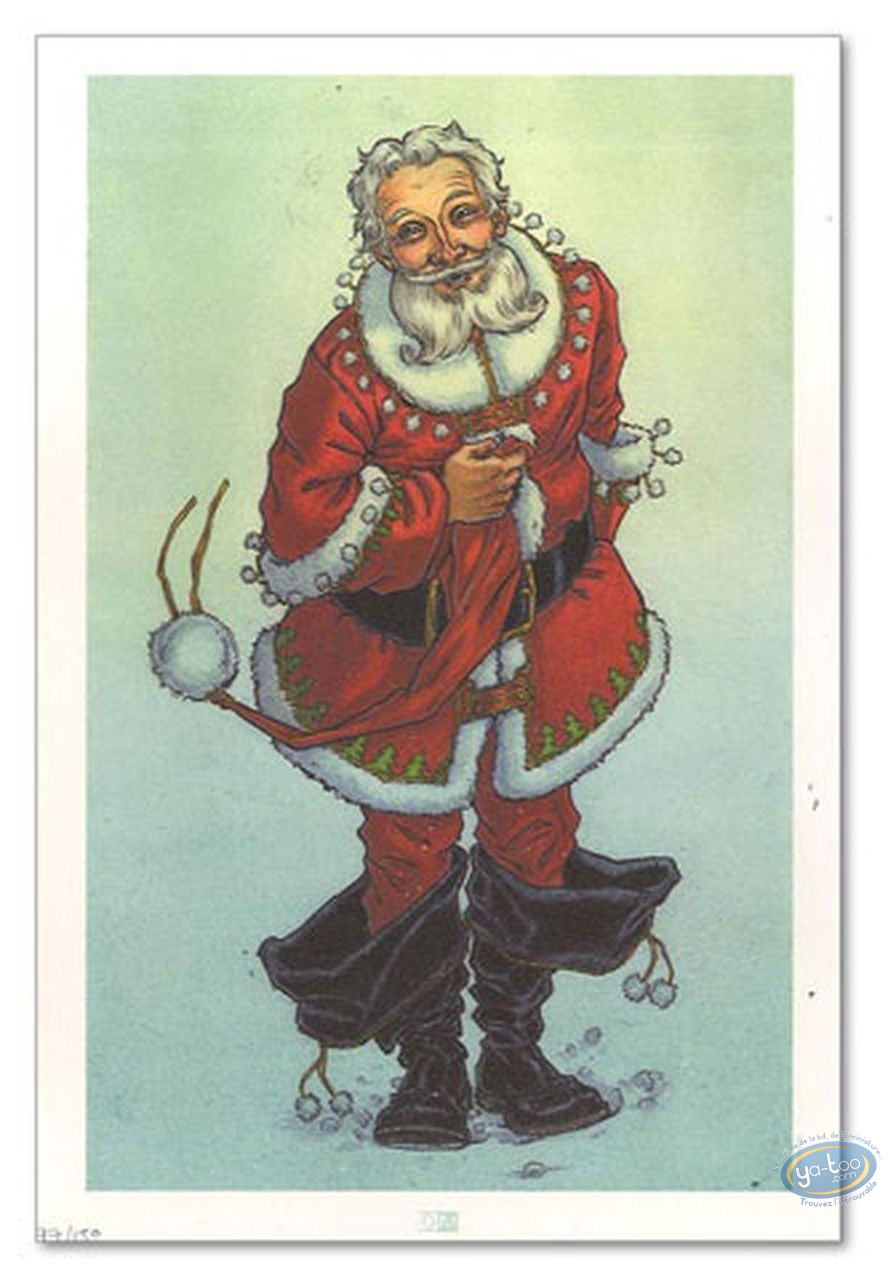 Bookplate Offset, Mon Voisin le Père Noël : My Neighbour Santa Claus
