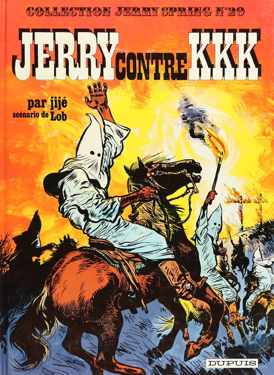 Listed European Comic Books, Jerry Spring : Jerry contre KKK (very good condition)
