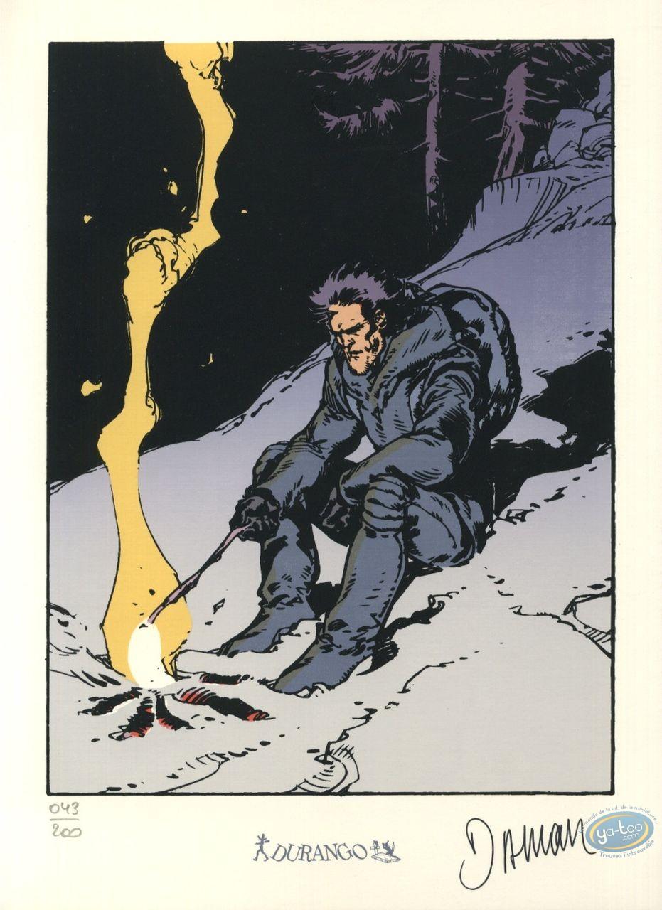 Bookplate Serigraph, Nash : Nash camp fire