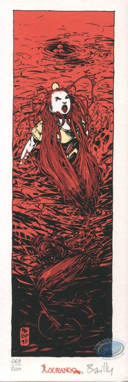 Bookplate Serigraph, Cœur de Sang (Le) : Woman in the water