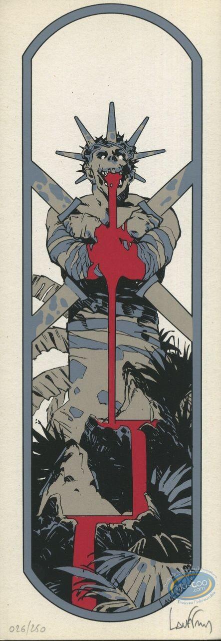 Serigraph Bookmark, Monster