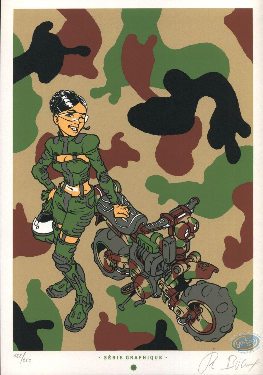 Bookplate Serigraph, Sillage : Camouflage