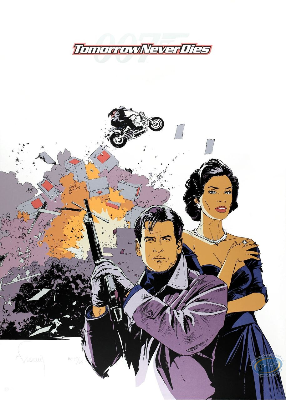 Serigraph Print, James Bond : Tomorrow Never Dies