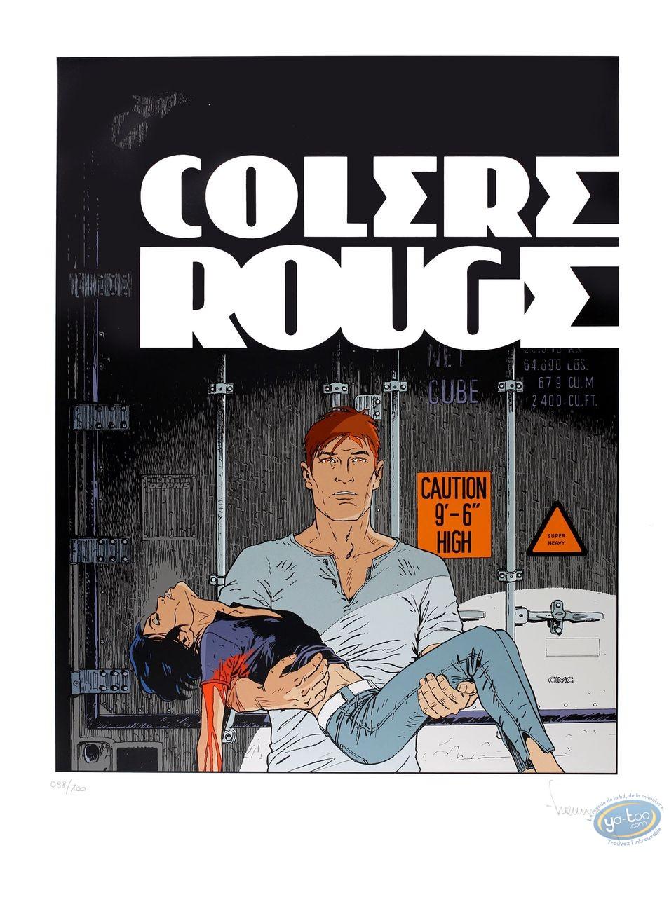 Serigraph Print, Largo Winch : Colere Rouge
