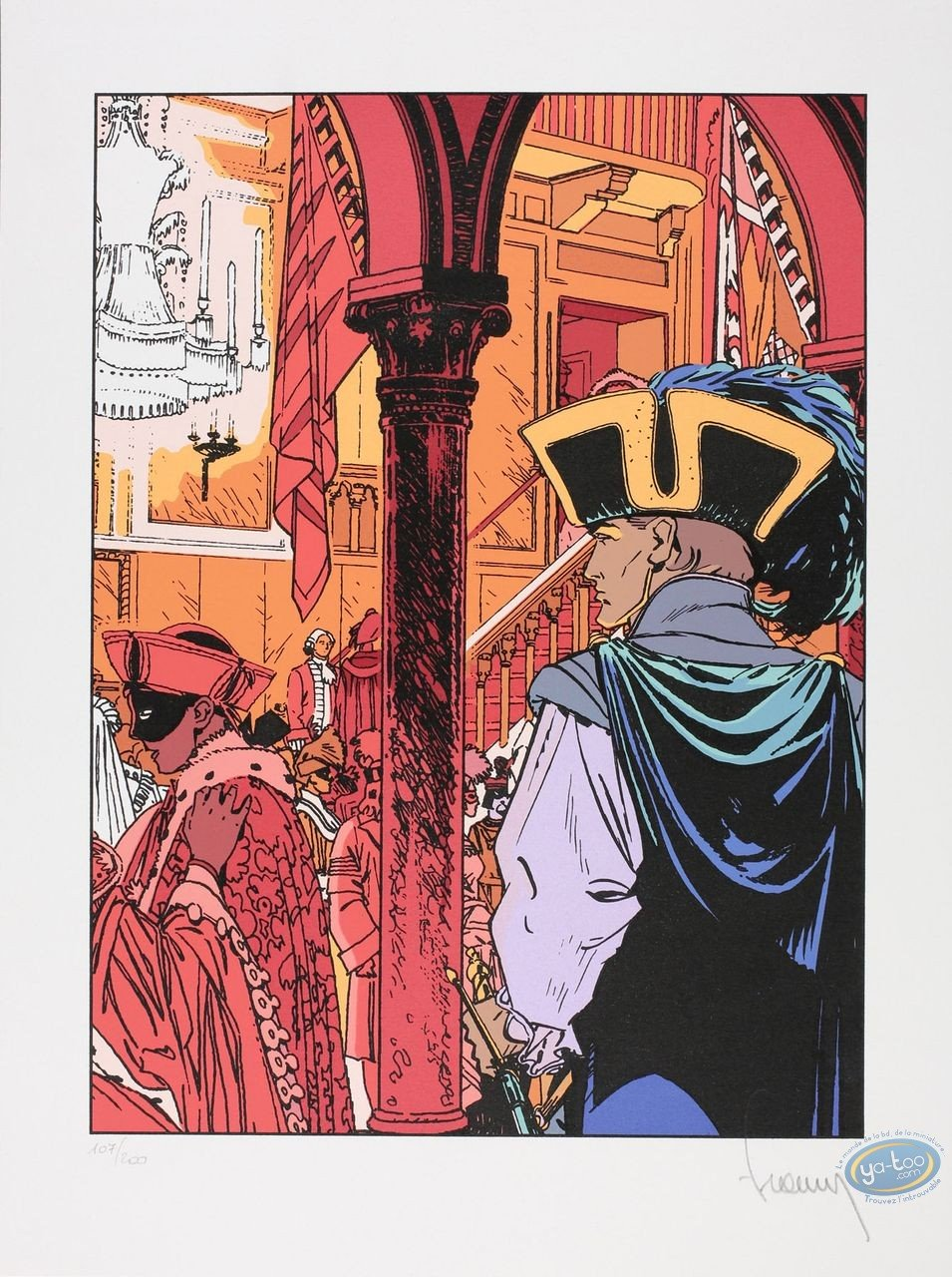Serigraph Print, Largo Winch : Venetian Party