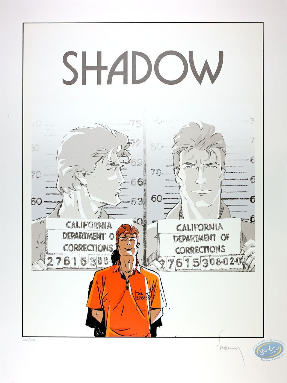 Serigraph Print, Largo Winch : Shadow (with tittle)