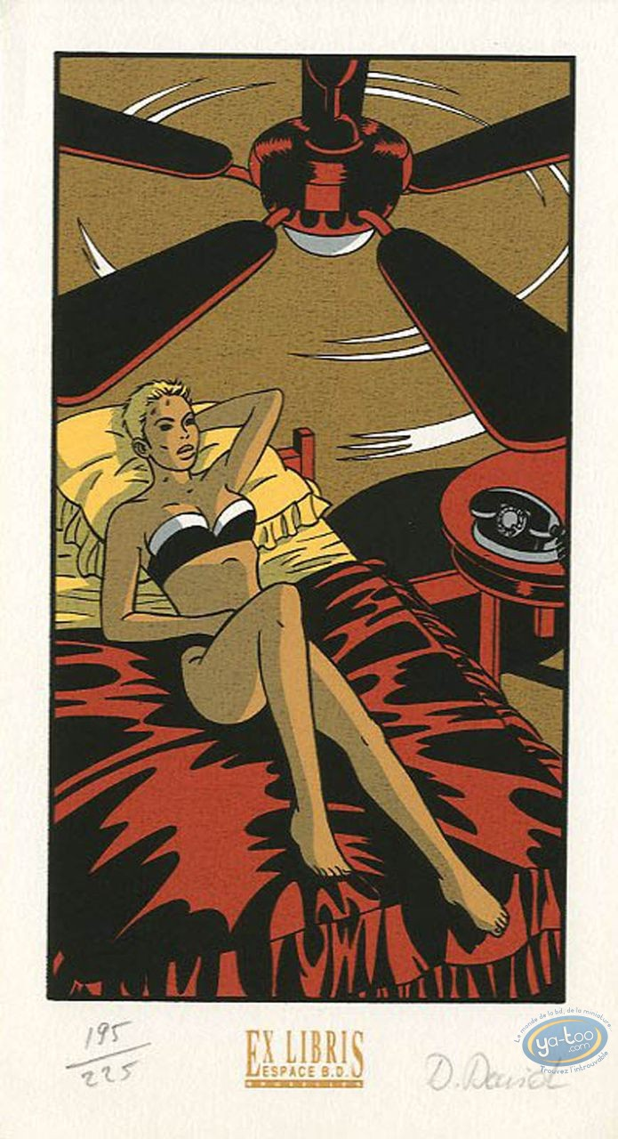 Bookplate Serigraph, Lipstick : Fan