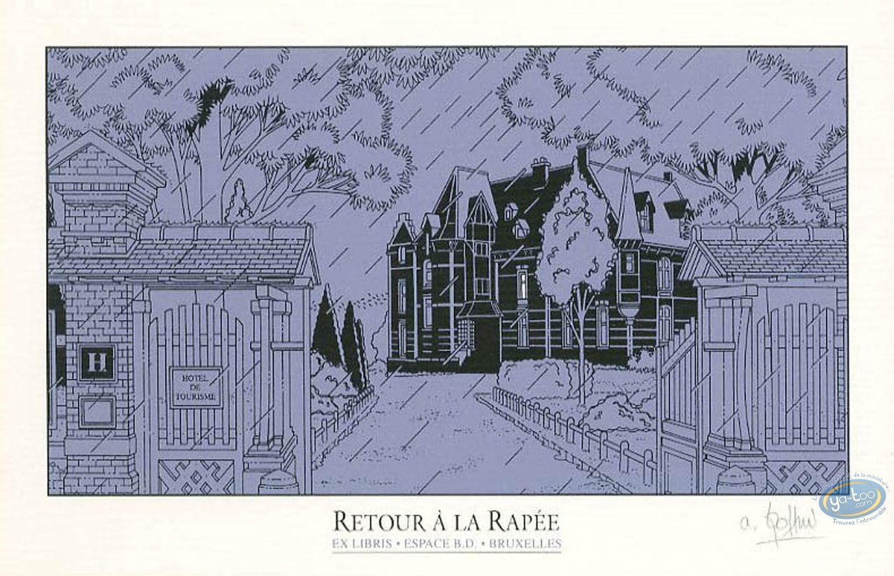 Bookplate Serigraph, Retour à la Rapée : The Mansion