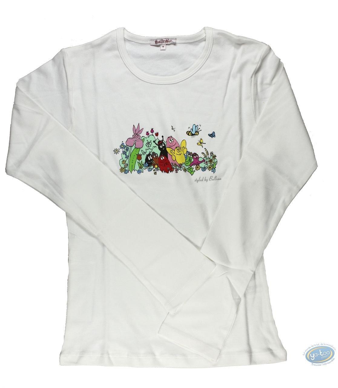 Clothes, Barbapapa : T-shirt long-sleeve white  Barbapapa: size M, family