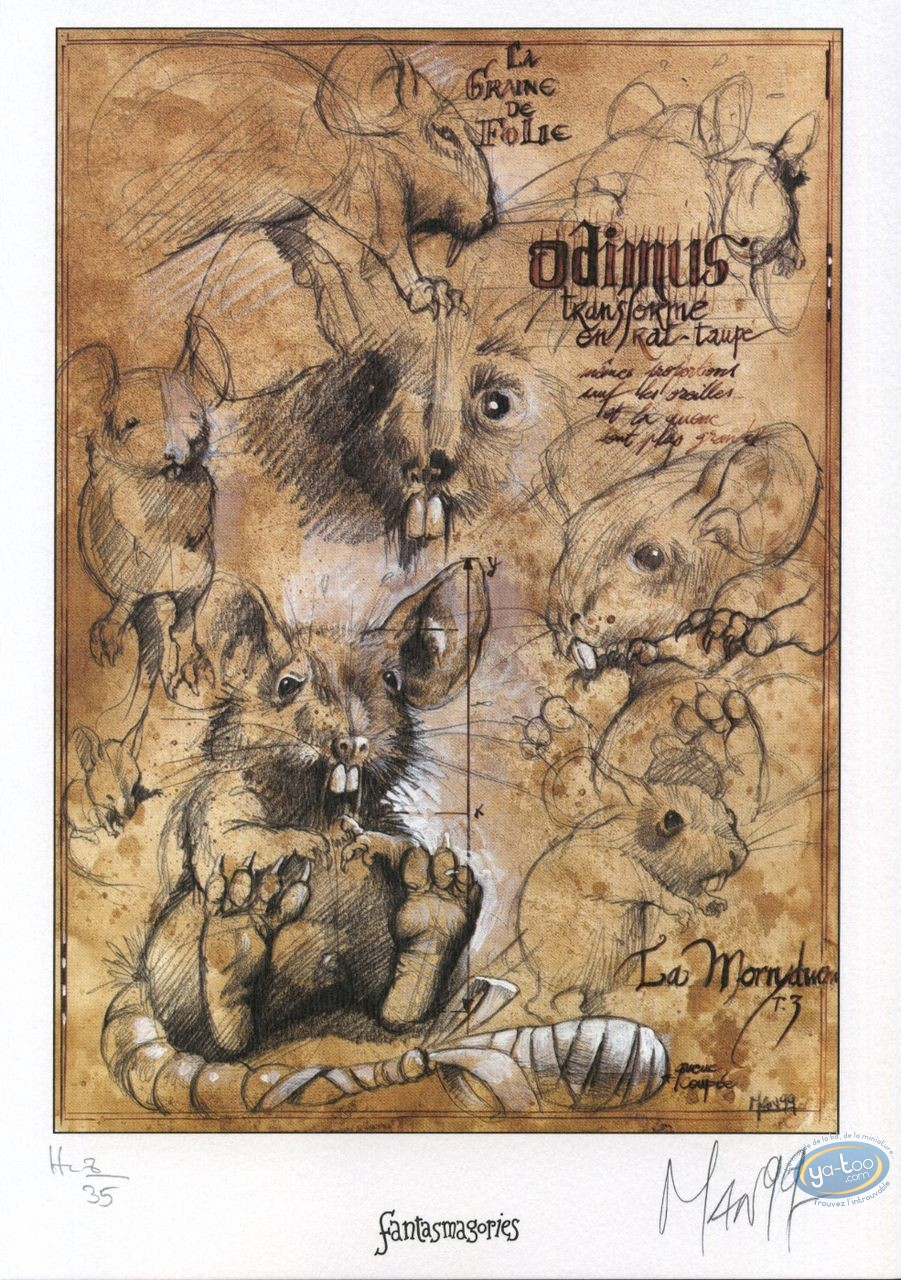 Bookplate Offset, Graine de Folie (La) : Odimus