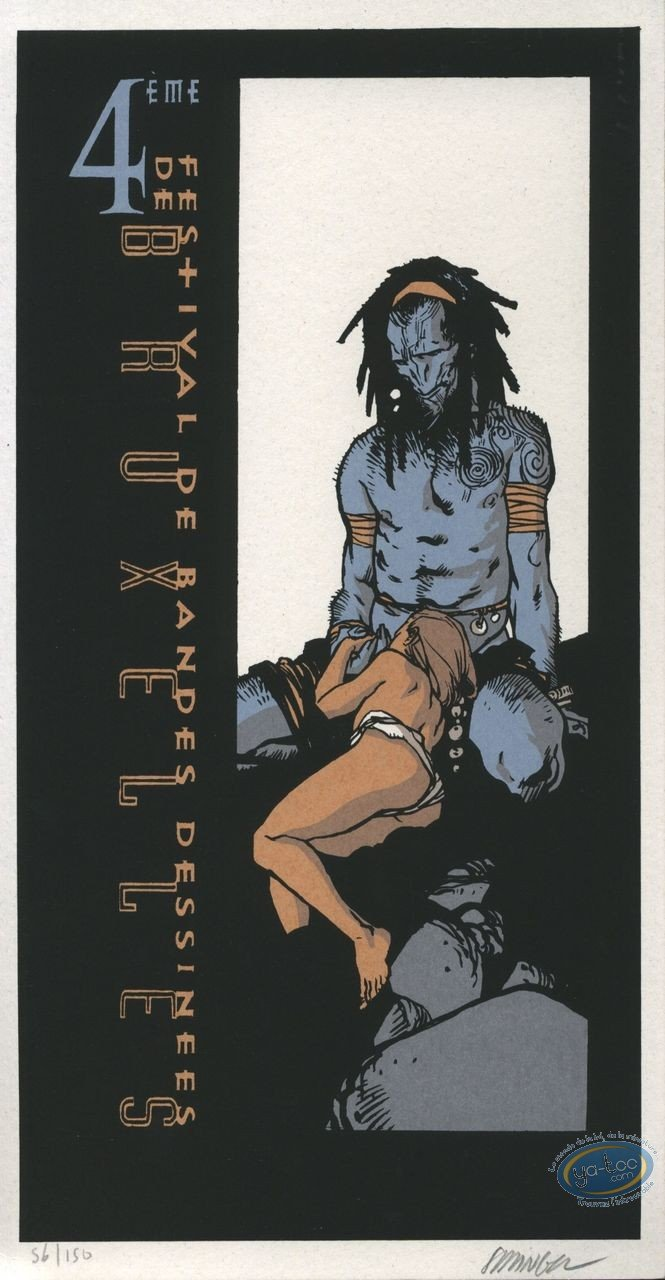 Bookplate Serigraph, Terres d'Ombre : Blue Giant