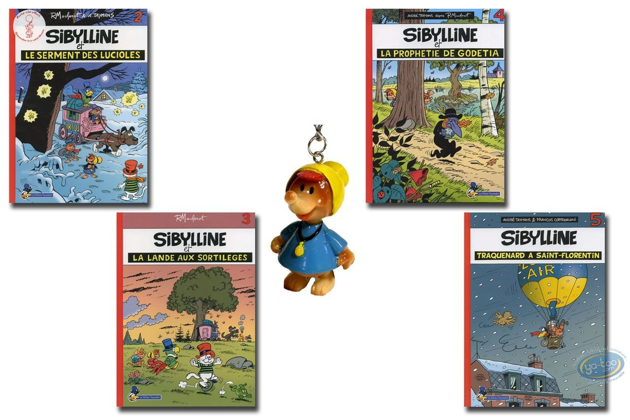 Reduced price European comic books, Sibylline : Vol. 2 to 5 + keyring