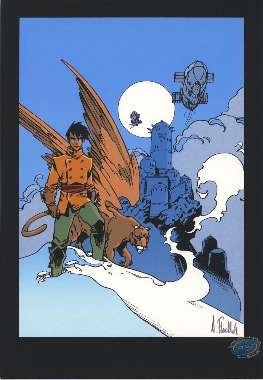 Bookplate Serigraph, Slhoka : Leaving for battle