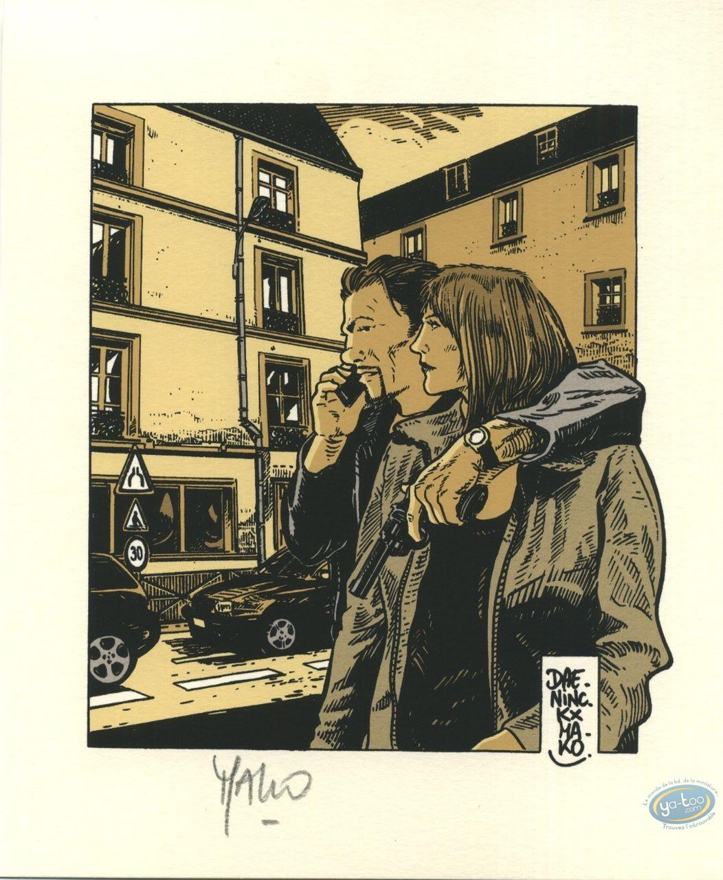 Bookplate Offset, Levée d'écrou : Couple (signed)