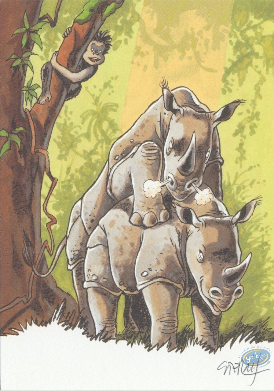 Bookplate Offset, Pyrénée : Rhinos