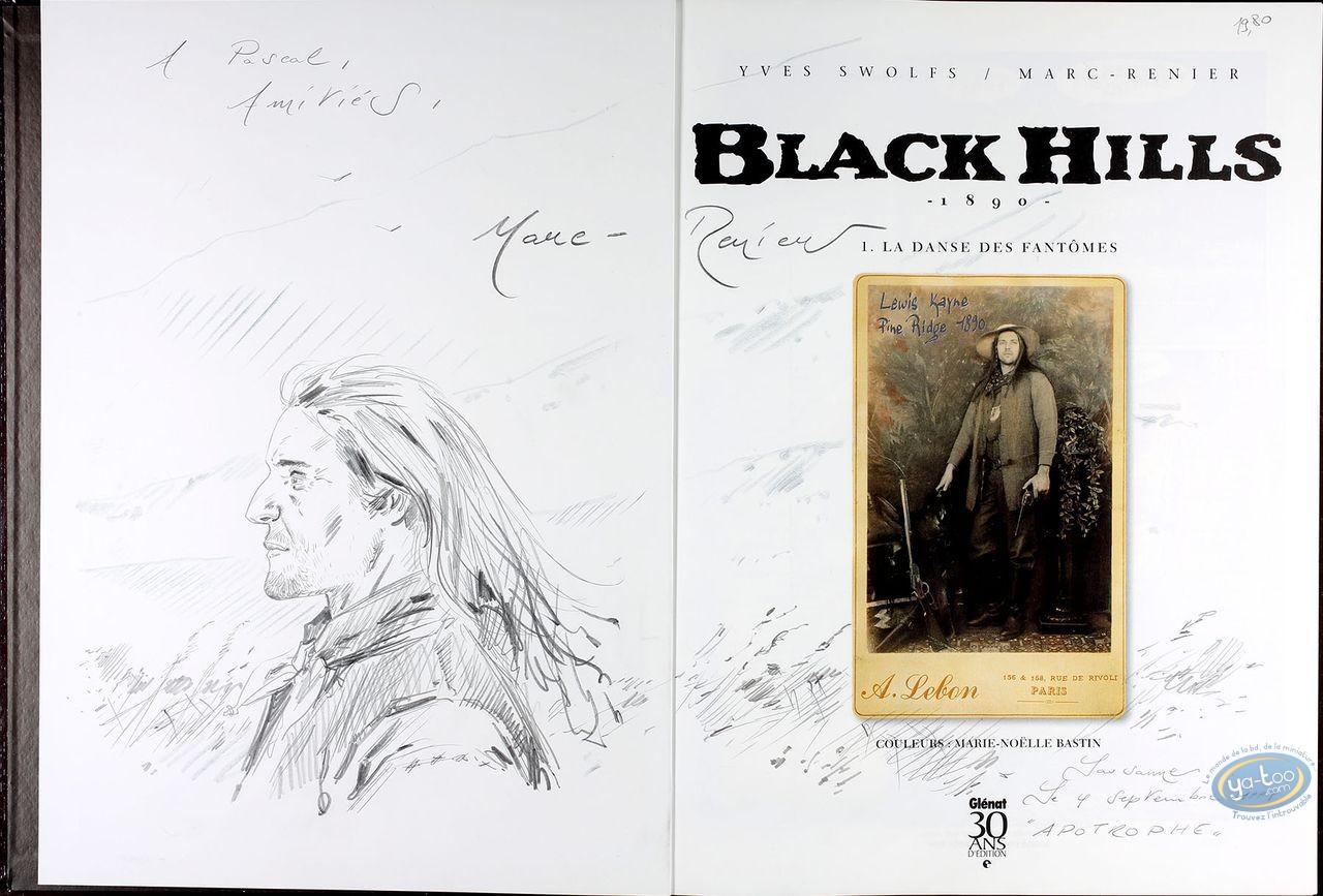 Listed European Comic Books, Black Hills : La Danse des Fantomes (dedication + bookplate)