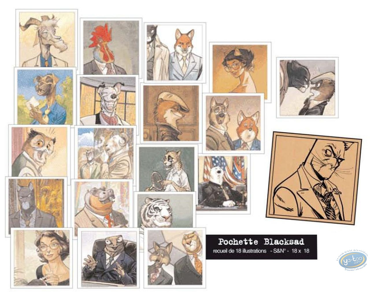 Portfolio, Blacksad : Collection of 18 Portraits
