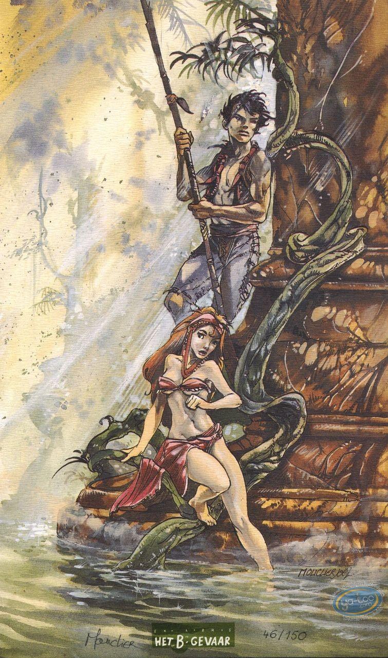 Bookplate Offset, Semio : Couple in the jungle