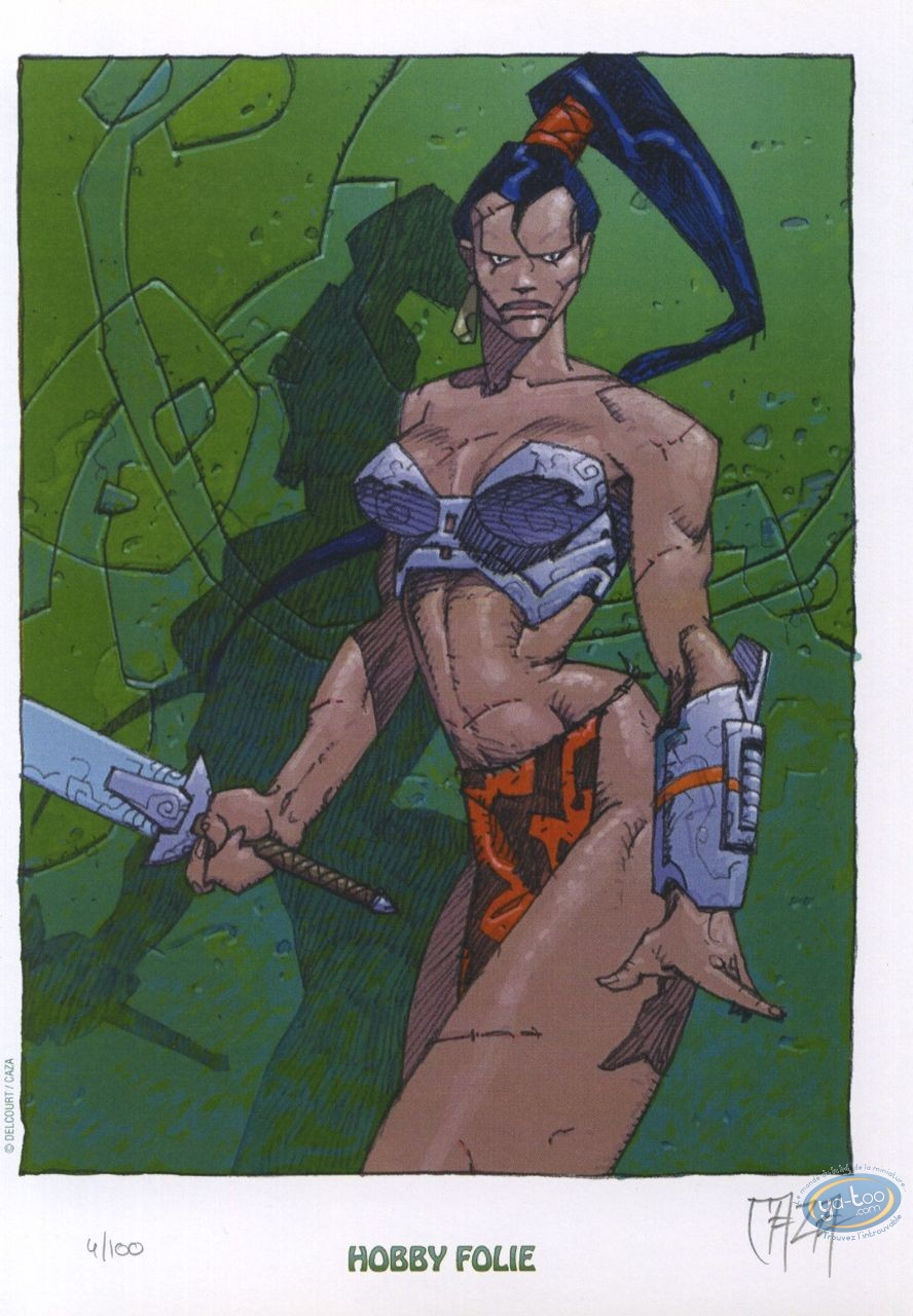 Bookplate Offset, Monde d'Arkadi (Le) : Warrior
