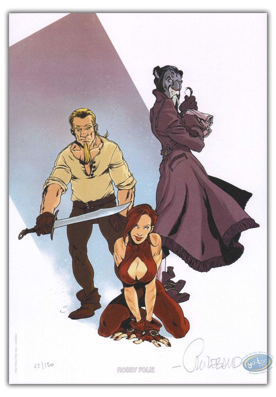 Bookplate Offset, Porte des Mondes (La) : Trio with guns