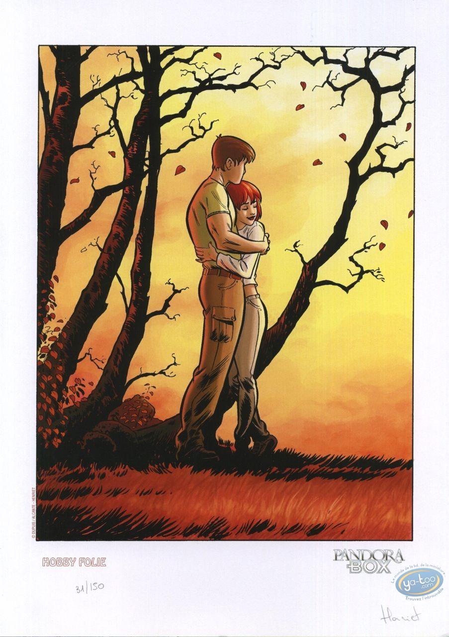 Bookplate Offset, Pandora Box : Couple embracing