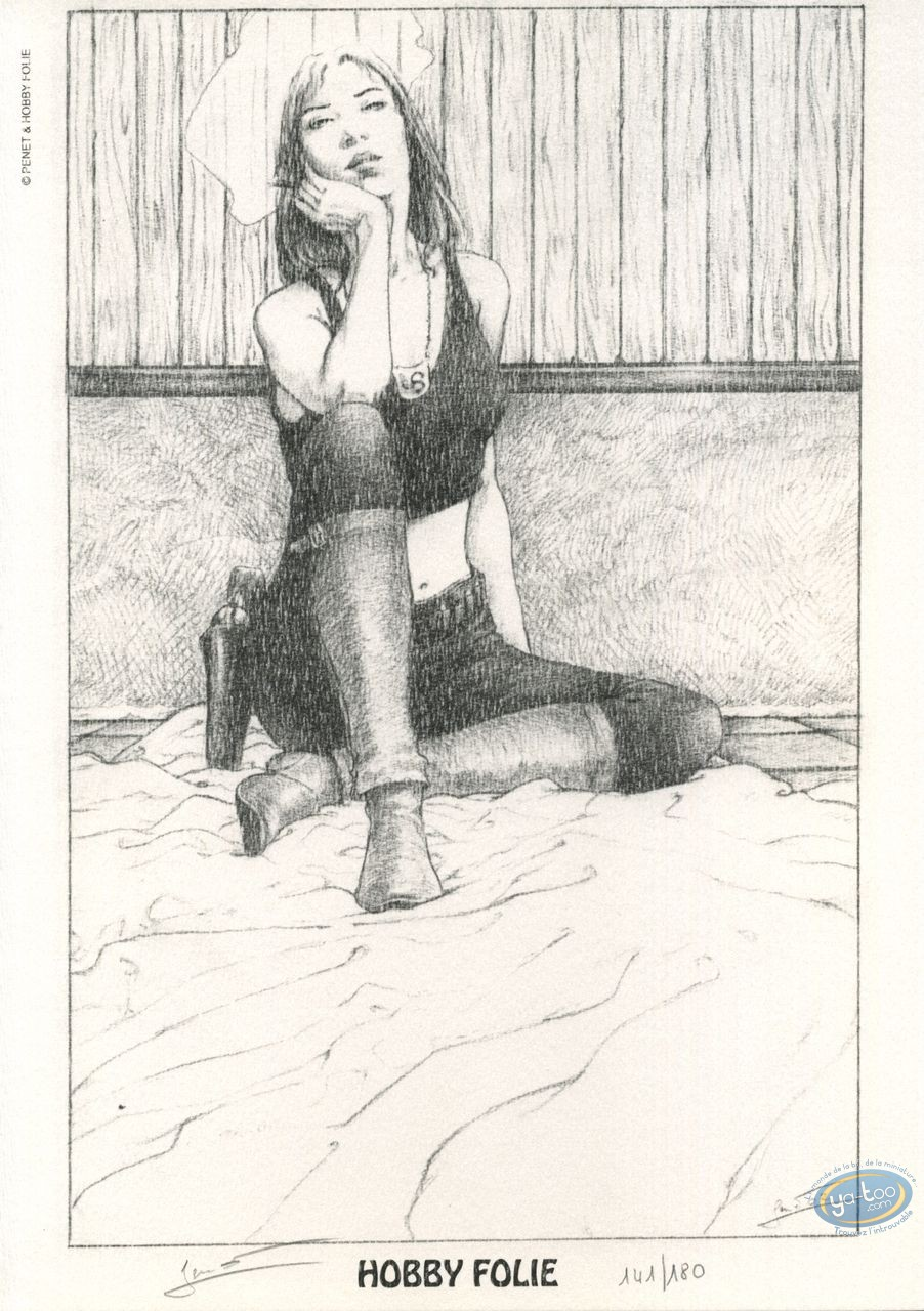 Bookplate Offset, Fleurs Carnivores : Woman sitting smoking