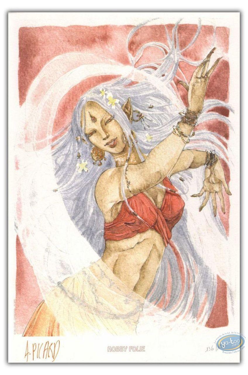 Bookplate Offset, Weëna : Woman dancing