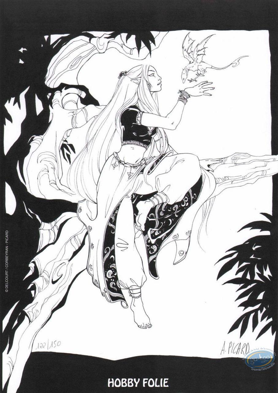 Bookplate Offset, Weëna : Woman & flying baby dragon