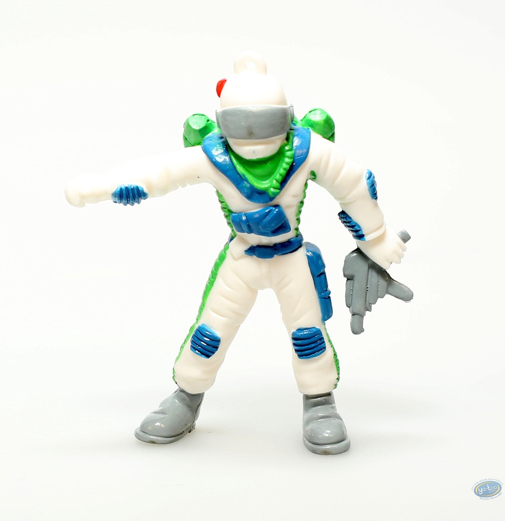 Plastic Figurine, Plastic figure, White figure with grey gun