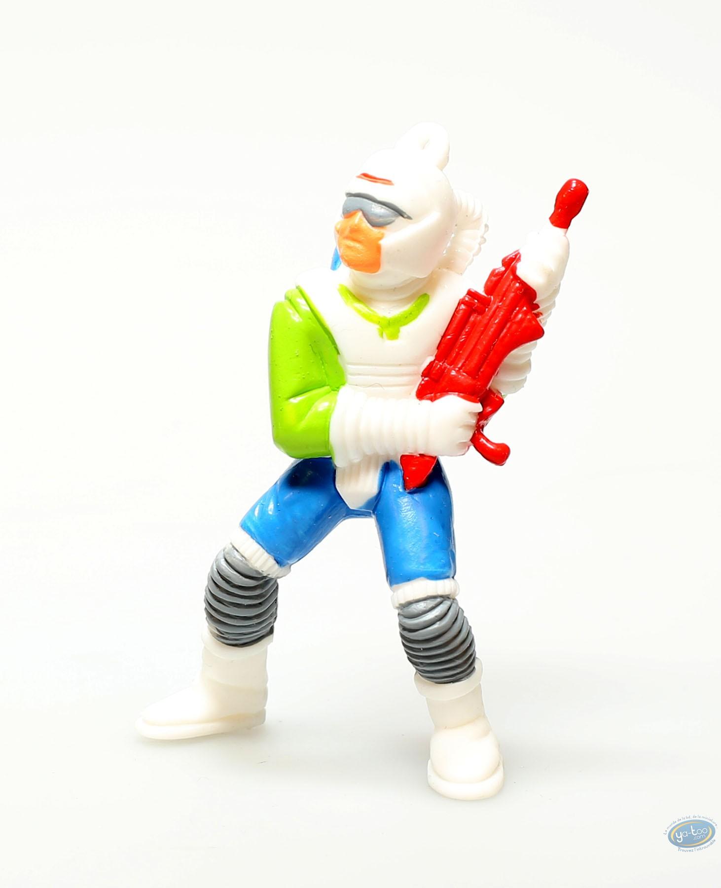 Plastic Figurine, Plastic figure, Orange figure with red gun