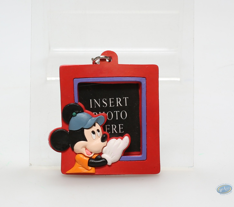 PVC Keyring, Mickey Mouse : Red framework Mickey, Disney