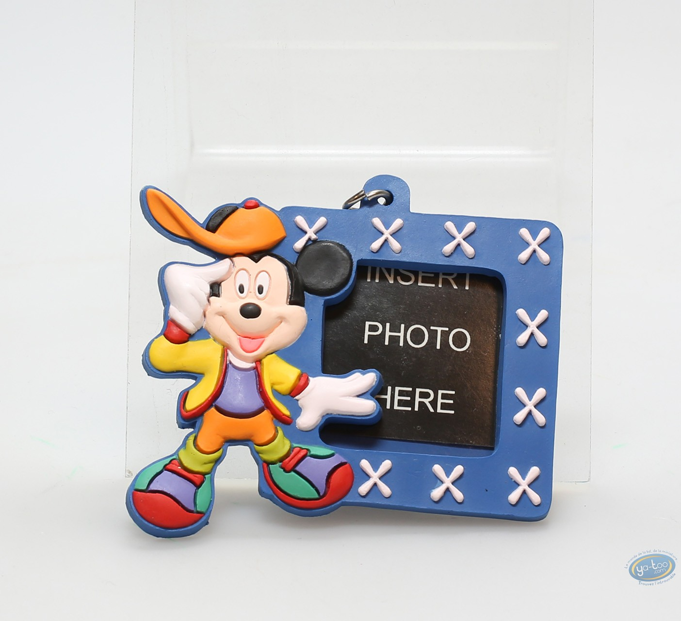 PVC Keyring, Mickey Mouse : Blue framework Mickey, Disney