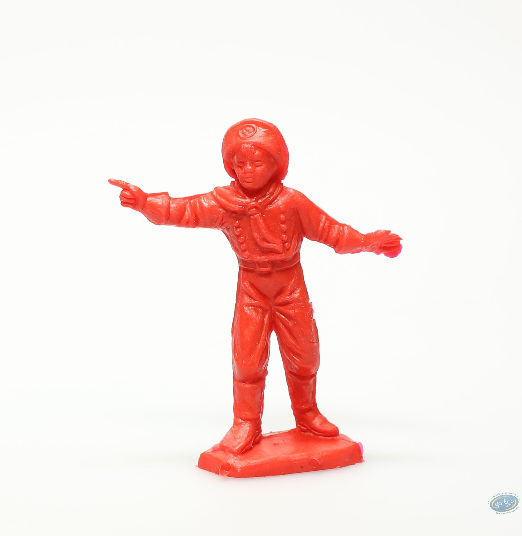 Plastic Figurine, Rintintin : Plastic figure : Young boy pointing red