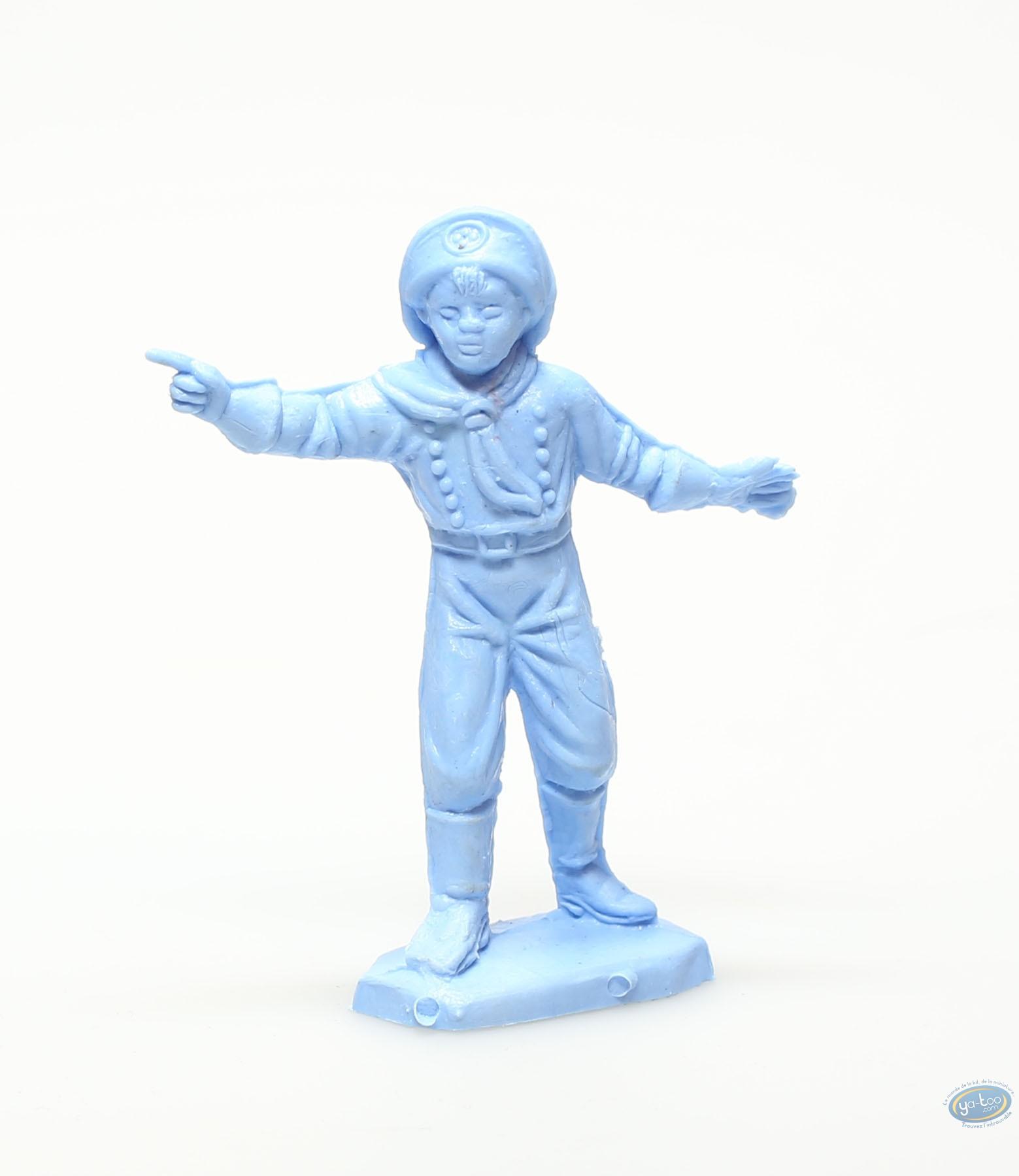 Plastic Figurine, Rintintin : Plastic figure : Young boy pointing blue