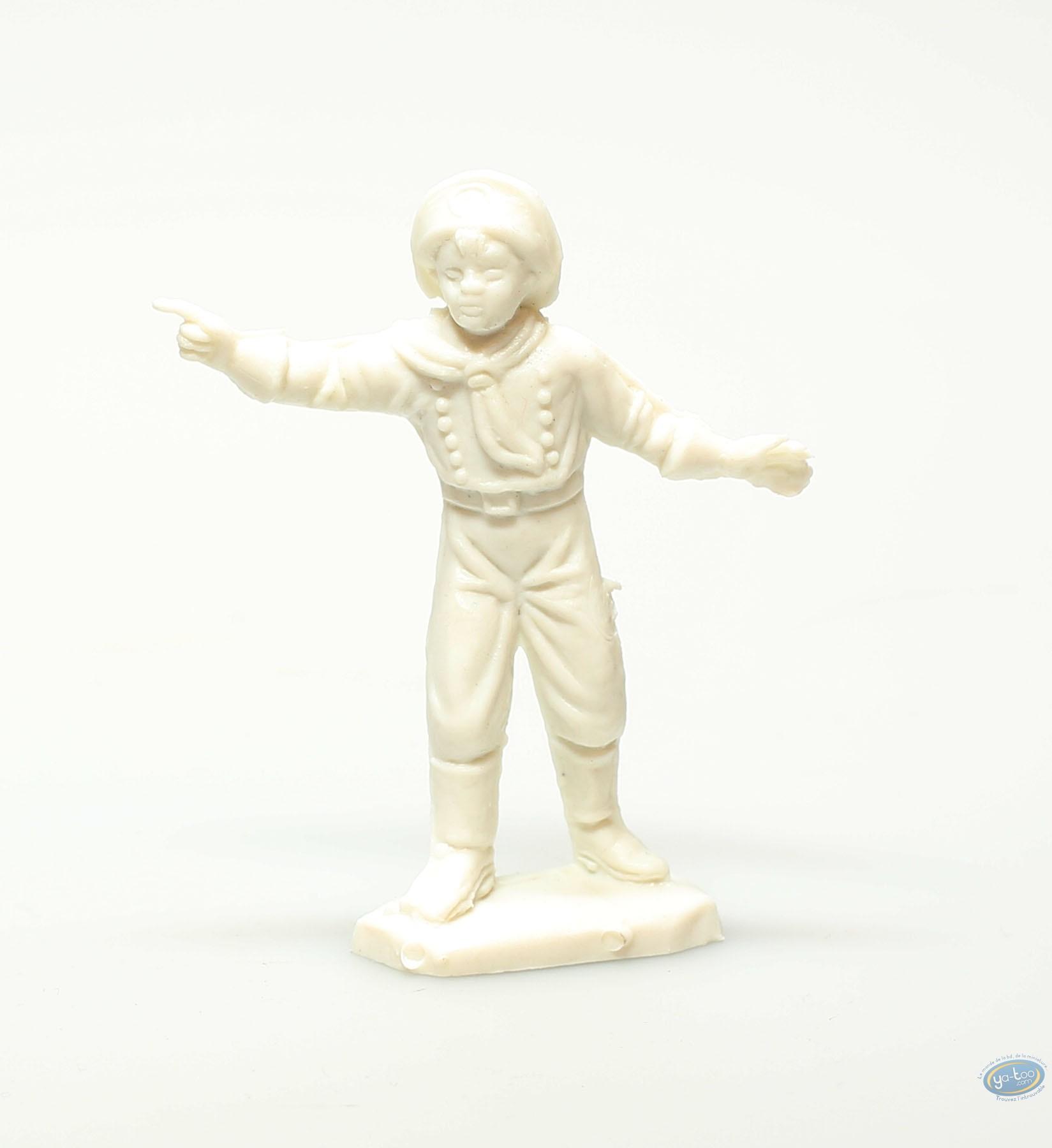 Plastic Figurine, Rintintin : Plastic figure : Young boy pointing white