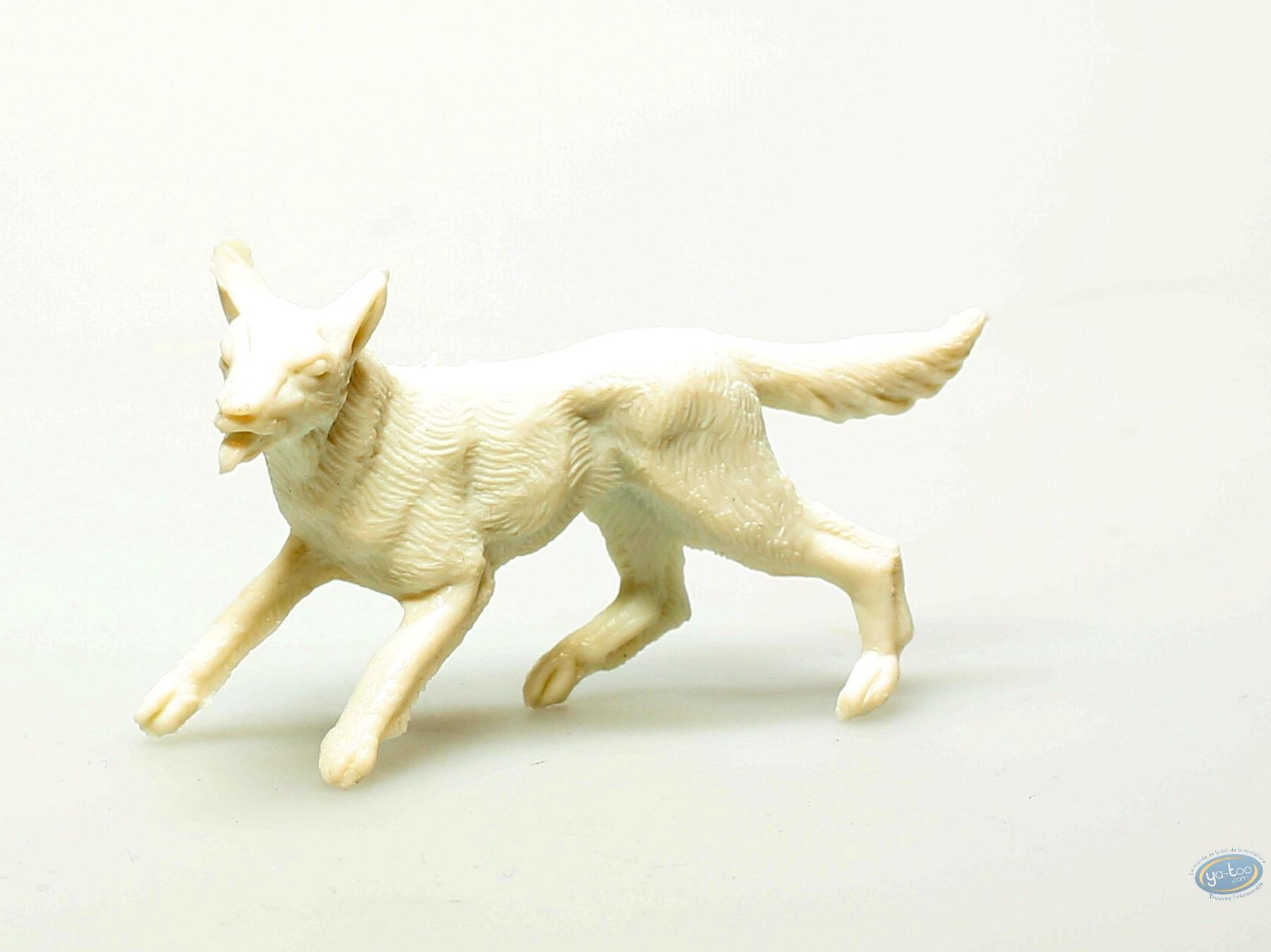 Plastic Figurine, Rintintin : Plastic figure : White dog